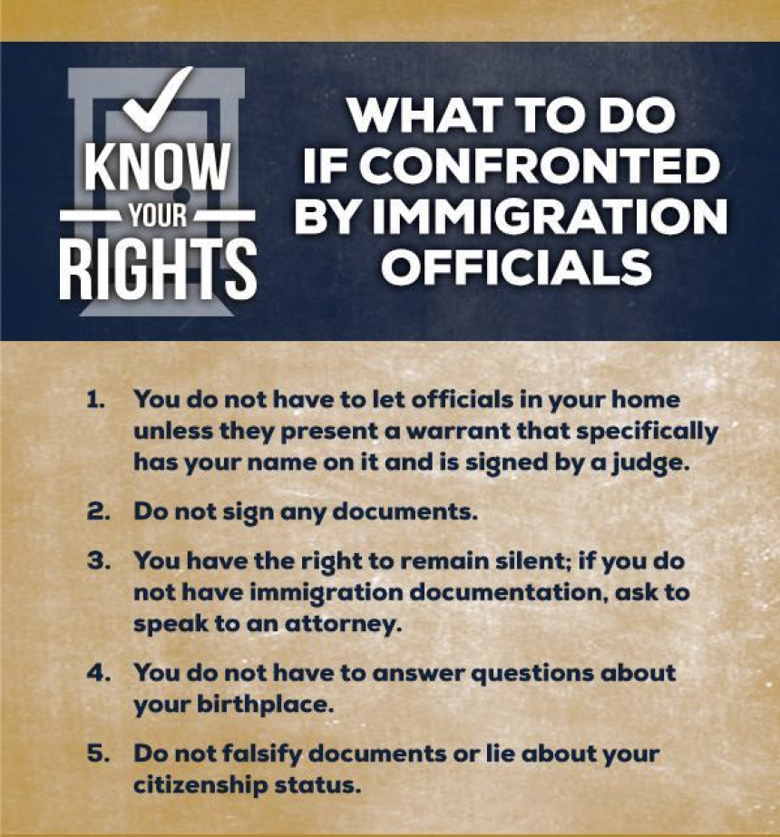 Know Your Rights Flyer
