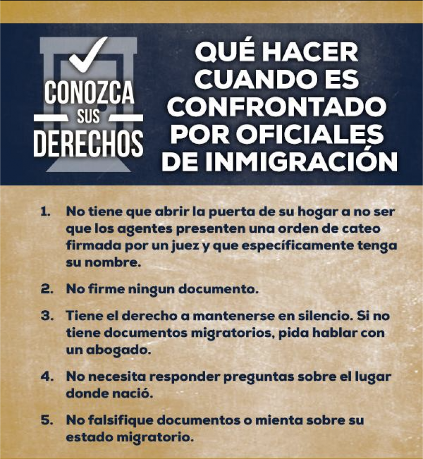 Know Your Rights Flyer - Spanish
