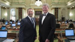 Assemblymember Stone and Assemblymember Dahle on the Assembly Floor
